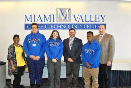 December 2019 MVCTC Integrity Award Winners George Appleberry, Phoebe Jacobs and Michal Burks are MVCTC Building Principals Natasha Norvell, Craig Vasil, and Dale Winner.