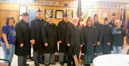 Members of the Darke County Honor Guard received new coats to help them perform their duties.