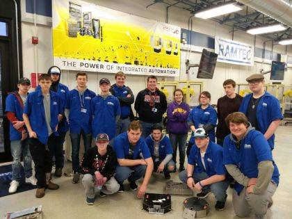 MVCTC Robotics & Automation junior class participated in the Xtreme Bots Competition. Shown are Tyler Baldsare, Caleb Taylor, Conner Barnett, Dakota King, Devin Lambert, Harry Phillips, Craig Posey, Makenzee Richards, Ava Benner, Adam Wilson, Liam Clark, (front row) Seth White, Jacob Fritts, Aiden Carter, Sean Stauffer, and Kevin Gati.