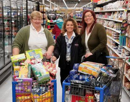 Zechar Bailey Funeral Home's staff goes shopping for military servicemen and women stationed around the world.