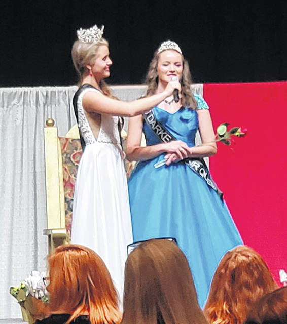 Courtesy photo Great Darke County 2019 Junior Fair Queen Victoria Wuebker made it to the top 15 from a field of 80 from across the state for the crowning the Ohio Fairs Queens at the 95th annual Ohio Fair Managers Association convention in Columbus last week.
