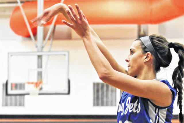 Franklin Monroe's Corina Conley led all scorers with a game high 30 points in the Lady Jets win over Fort Recovery.