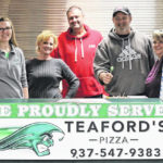GHS proudly serving Teaford's Pizza