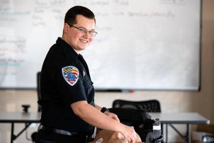 Jacob Cain of Greenville is just one of more than 70 people from the local area who have benefited from Spirit's EMT scholarship programs. Cain was recently named the valedictorian of Spirit's first company sponsored paramedic class.
