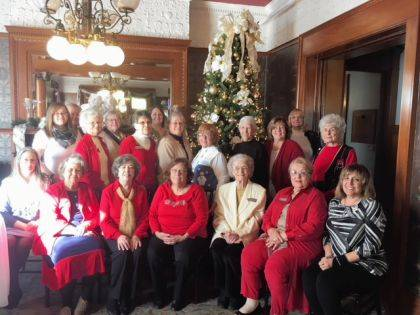 Fort GreeneVille DAR members celebrated the holidays with a Christmas Luncheon at St. Clair Manor.
