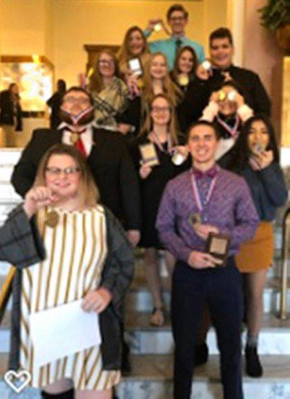 The Mississinawa Valley BPA students attended the annual Region 3 Awards Ceremony in Greenville.