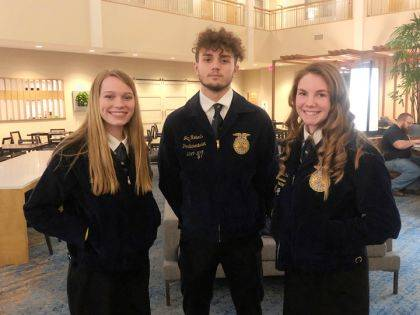 Shown are Molly Clark, Jay Roberts, and Alexis Barhorst.