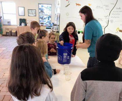 School children continue to learn about conservation during a Darke County Parks afterschool program.
