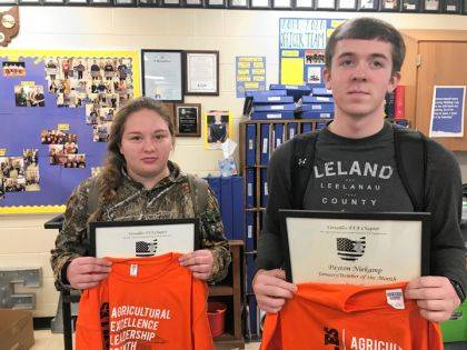 Hayley Smith and Payton Niekamp were named Versailles FFA January Members of the Month.