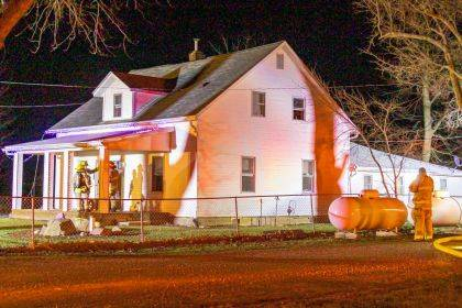 Firefighters responded to a two-alarm fire near New Madison on New Year's Day.