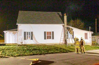 Crews responded to a house fire on Elm Street in Union City.