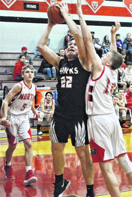 Trey Godfrey scores for MV in the Blackhawks win over Tri-County North.