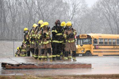 MVCTC Class of 2020 Firefighter/EMS students participated in Gas Pad Training at the Dayton Fire Department Training Center.
