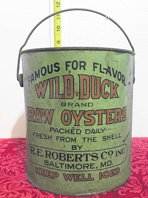Troy Kies, an auctioneer and real estate agent from Anna, sold a Wild Duck oyster tin for $16,800 in an online auction. Pete Lesher, chief curator for the Chesapeake Bay Maritime Museum, said there's fewer than 10 of the Wild Duck cans still known to exist.