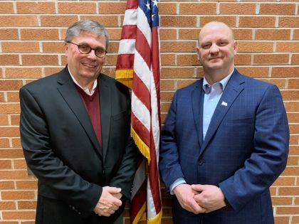 Shown are the candidates for the Republican Party for the Primary Election for Darke County Commissioner, Larry Holmes and Matt Harrison.