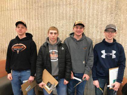 The state Nursery/Landscape team included Ayden Bergman, Gabe Thompson, Wesley Gehret and Evan Groff.