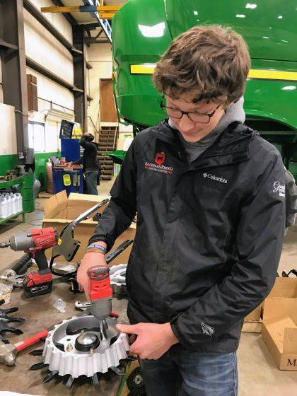 Lewis Winner is employed by Kenn-Feld Group in Coldwater while he takes classes at Versailles High School.