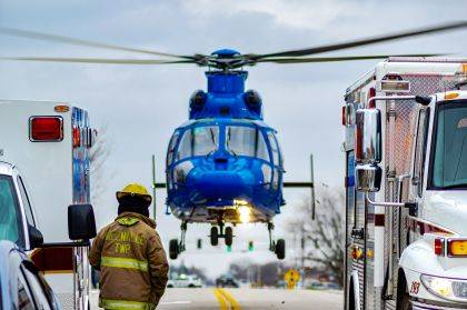 An adult and juvenile were flown by CareFlight to Miami Valley Hospital with serious injuries.
