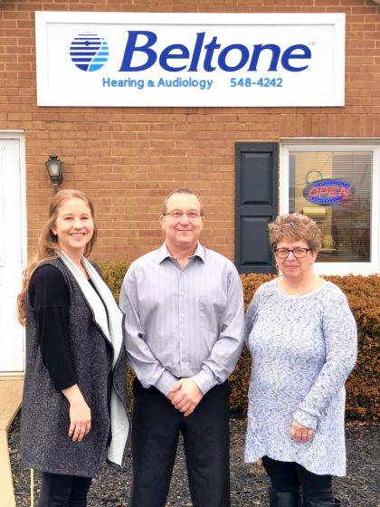 Shown are Dr. Kylie Young, Garth Knick, HAS, and Teresa Mikesell, receptionist.