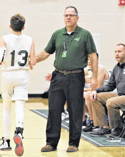 Greenville seventh grade boys basketball coach Ken Neff guides his 2019-2020 team to a 13-5 winning season.