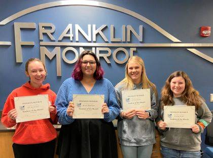Shown are the February Students of the Month.