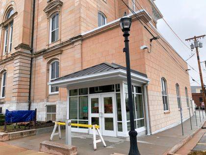 All employees and visitors to the Darke County Courthouse will be required to use the new entrance and undergo screening to enter the facility.