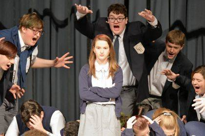 The cast of Matilda at Union City Junior/Senior High School held performances with a limited audience.