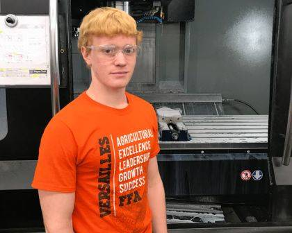 Nick Monnier was selected as the Capstone Student of the Month for his employment at Direct Tooling Concept, LLC.