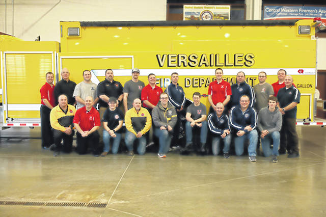 Provided photo Poultry Days recently met with Versailles Volunteer Fire Department. Poultry Days has made donations to this group of special men and women for over ten years.