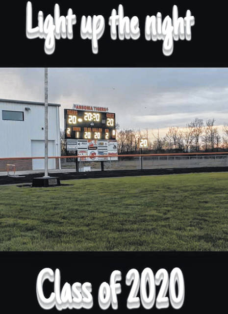 The scoreboard on the football field was bright and covered with the numbers 20 to honors Ansonia's graduating seniors Monday night.