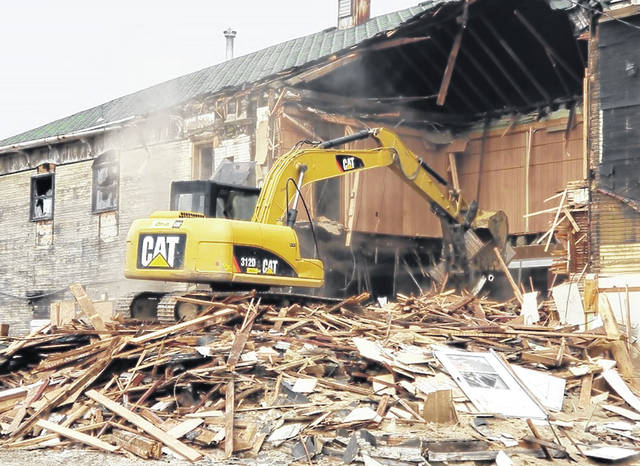 Local businessman Joe Aikman recently tore down the old Fort Black Buffet building in New Madison.