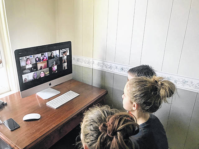 Provided photo Local 4H clubs are still getting their monthly meetings in using ZOOM online. Here members of the Ansonia Animal 4H Club are meeting to discuss New and Old business and what projects the members plan to do this year.