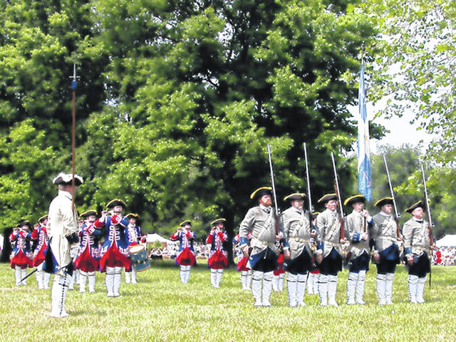 Provided photo Pictured is the Tippecanoe Ancient Fife and Drum Corps at the Garst Museum during Gathering at Garst in Greenville.