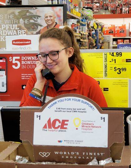 Deanna Hesson was selected as the Capstone Student of the Month for her employment at Greenville Ace Hardware.