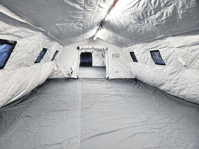 Here is a look inside the surge tent that is located outside Mercer County Community Hospital in Coldwater.