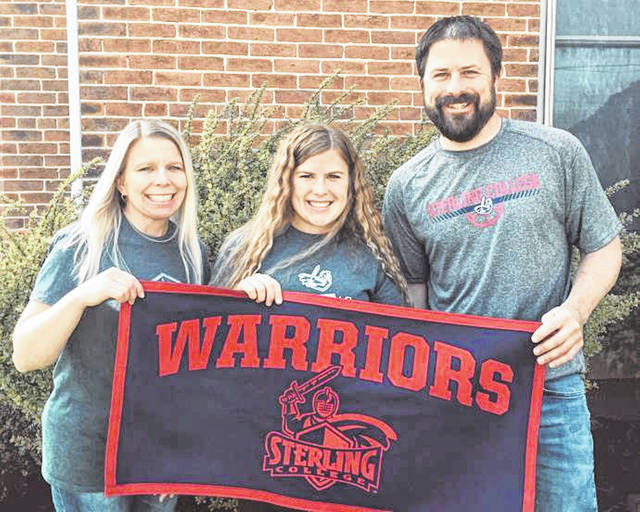 Franklin Monroe's Maddie Stacy commits to play soccer for the Sterling College Lady Warriors. (L-R) Heather Stacy (mother, Stacy and Ben Stacy (father).