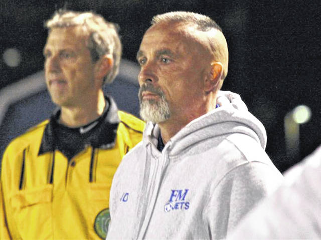 Danny Diceanu keeps and eye on his 2017-2018 Jets team in a home soccer match.