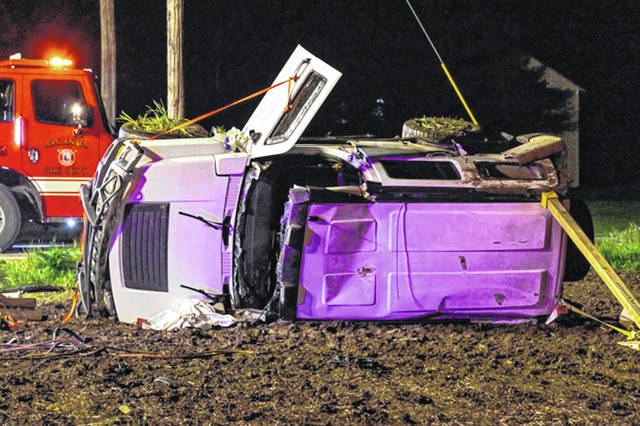 Two people were hospitalized for injuries Friday evening after being involved in an injury crash.