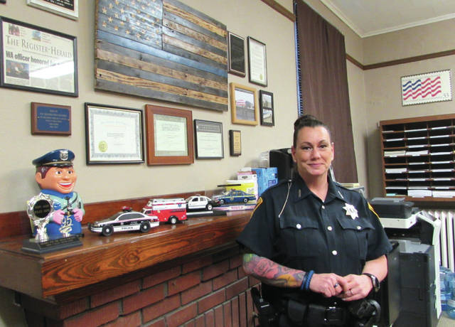 Courtesy photo Arcanum resident Dorothy Stringer fulfilled a lifelong dream by joining the West Alexandria police force in April of this year.