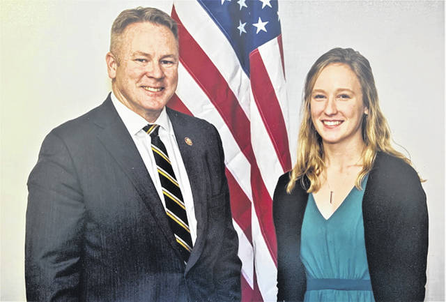 United State Air Force Academy appointee, Lucy Prakel and United States Congressman Warren Davidson.