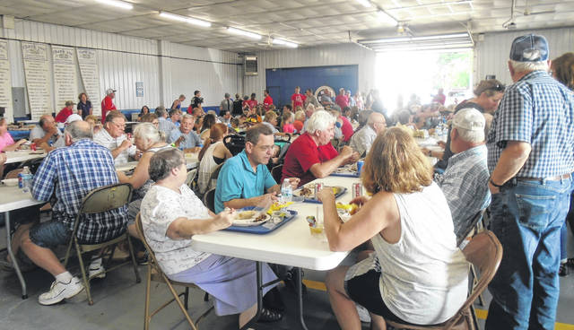 This photo was taken at least year's Rossburg Fireman's Social. Visitors to the festival enjoyed the chicken dinners and ice cream, just two of the features of the one-day annual event.