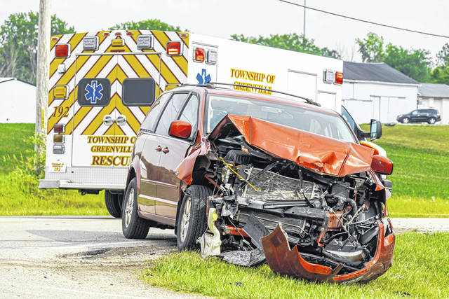 One person was transported to Wayne HealthCare following a head-on collision Monday evening. The driver of the other vehicle refused treatment.