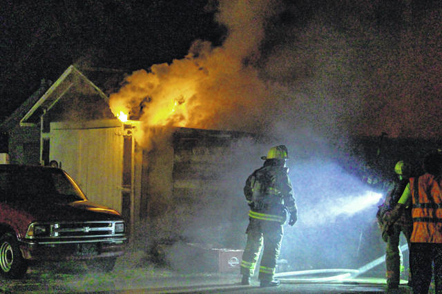 A Friday evening fire at a residence in Greenville was caused by fireworks.
