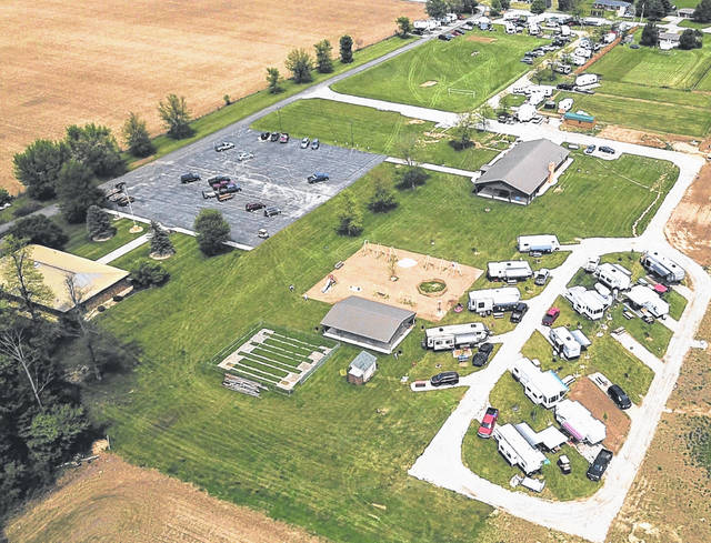 Here is an aerial view of Fireside Resort on Shade Road owned by the Bomholt family. It is located west of Greenville on the old Greenville Eagles Lot property.