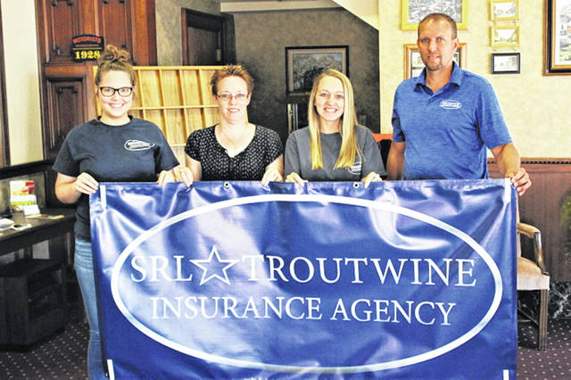 (L-R) SLR-Troutwine Insurance Agency employees: Tori Landis, Jaime LeVeck, Belle Cable and Tracy Fout.