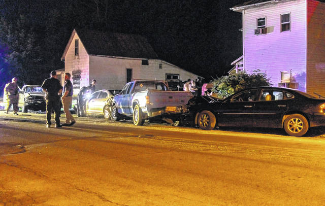 A high-speed pursuit ended in multiple wrecked vehicles late Wednesday night.