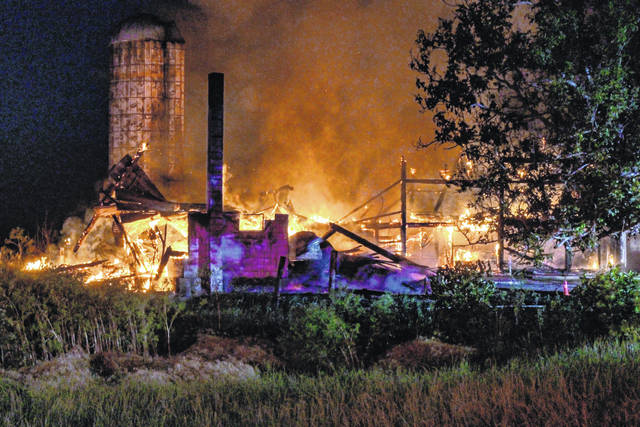 Fire fighters from two counties responded to a three-alarm fire in Castine Thursday morning.
