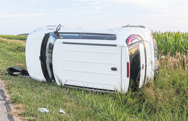 An 18-year-old driver was transported by CareFlight to Miami Valley Hospital following a rollover crash near Rossburg.