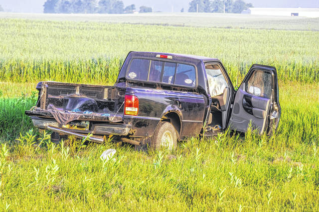A woman was for non-life threatening injuries following an early morning accident near Fort Recovery.