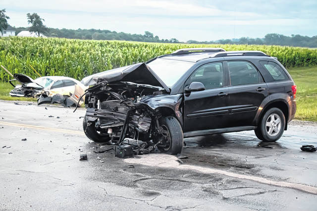 A man was mechanically extricated from his vehicle early Tuesday morning following a two-vehicle collision in Greenville.